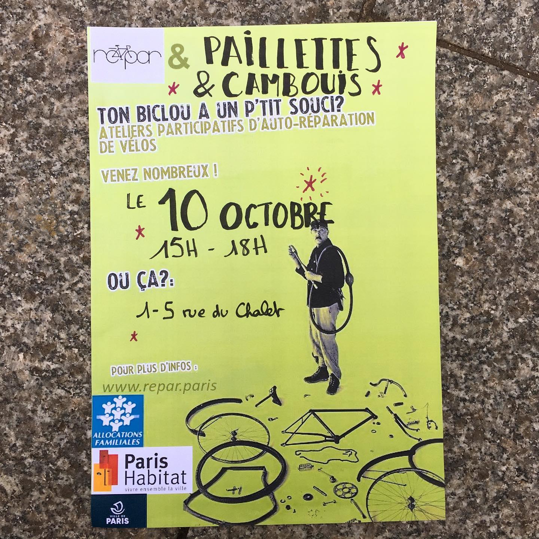 Retrouvez-nous demain aprem dans le 10ème (côté Belleville/Colonel Fabien), on fait un atelier avec Paris Habitat !